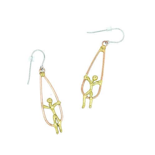 Children on Swings Earrings