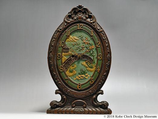 BLOSSOM TIME LUX CLOCK 東洋風景 c1928