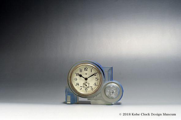 TOKYO CLOCK 青彩明ガラス 貝模様