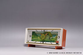 Rhythm Musical Clock Koh 6826 水車小屋 白鳥の湖