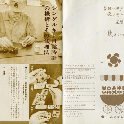 リズムグラフ 昭和37年10月 2巻3号 No4 もくじ