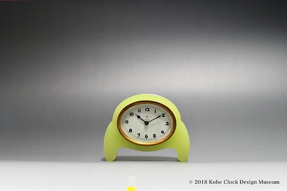 TOYO CLOCK ウランガラス 楕円