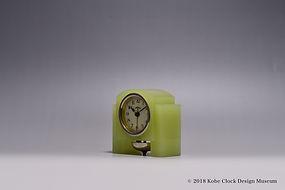 TOYO CLOCK ウランガラス薄緑 ベル