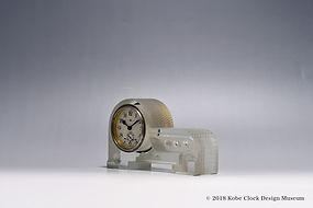 TOKYO CLOCK 透明ガラス アールデコ