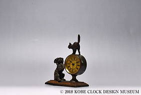 CLOCK 猫と犬