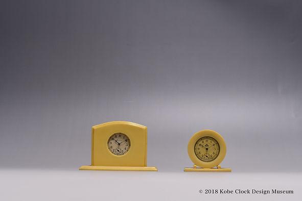 Eileen Clock Bakelite アイボリー ベークライト USA