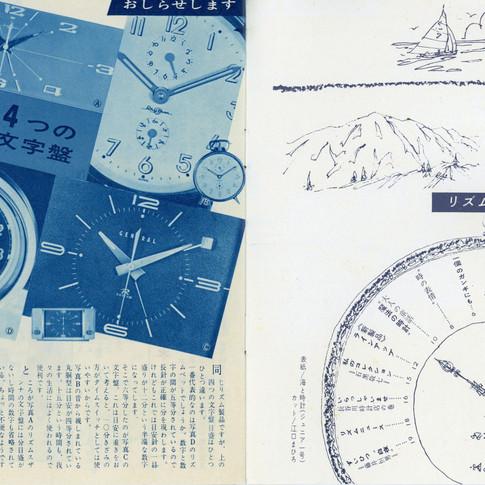 リズムグラフ 昭和37年7月 2巻2号 No3 もくじ