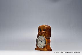 TEZUKA CLOCK Poppo スパニエル犬