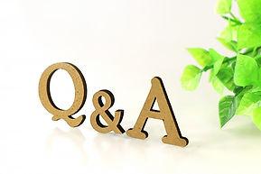 立体的なQ&Aの文字