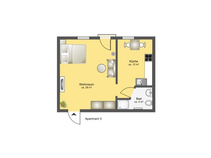 Grundriss - Apartment 3