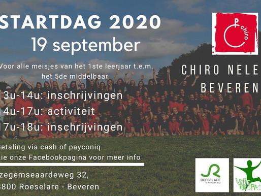 19 september 2020: Startdag
