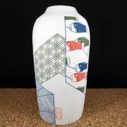 Vase bouteille Enso koinobori