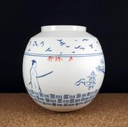 Vase boule samouraï
