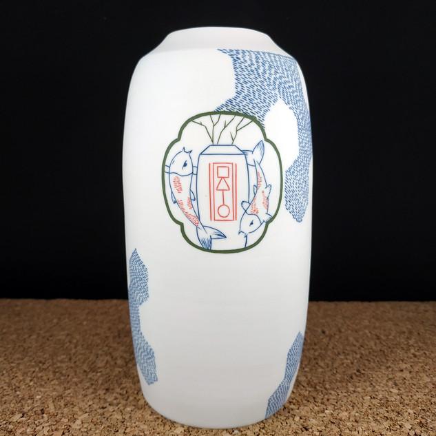 Vase bouteille Kamon