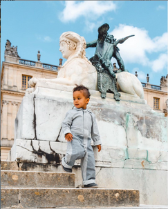 Versailles france with toddler