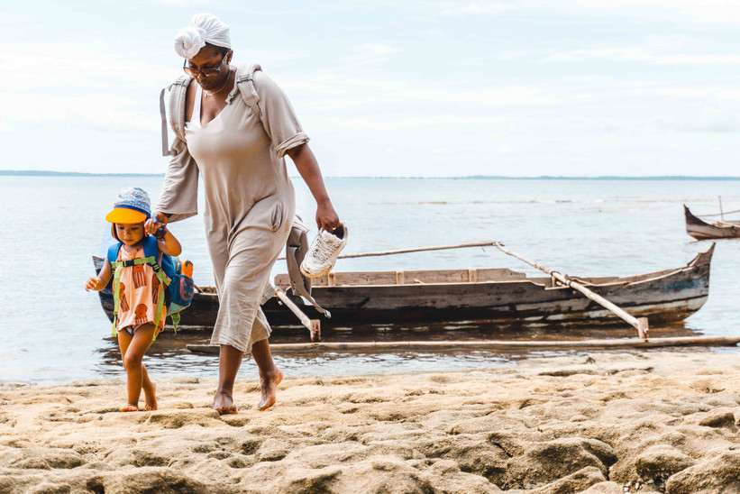 The mixed and blended family travel in Madagascar