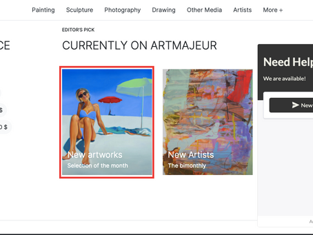 """""""Who Are You?"""" on the main page of ARTMAJEUR"""