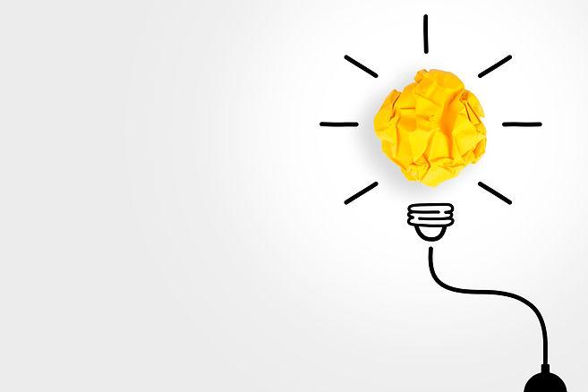 Creative Idea Concepts Light Bulb with C