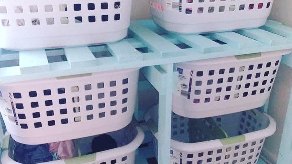 Laundry Basket Holder