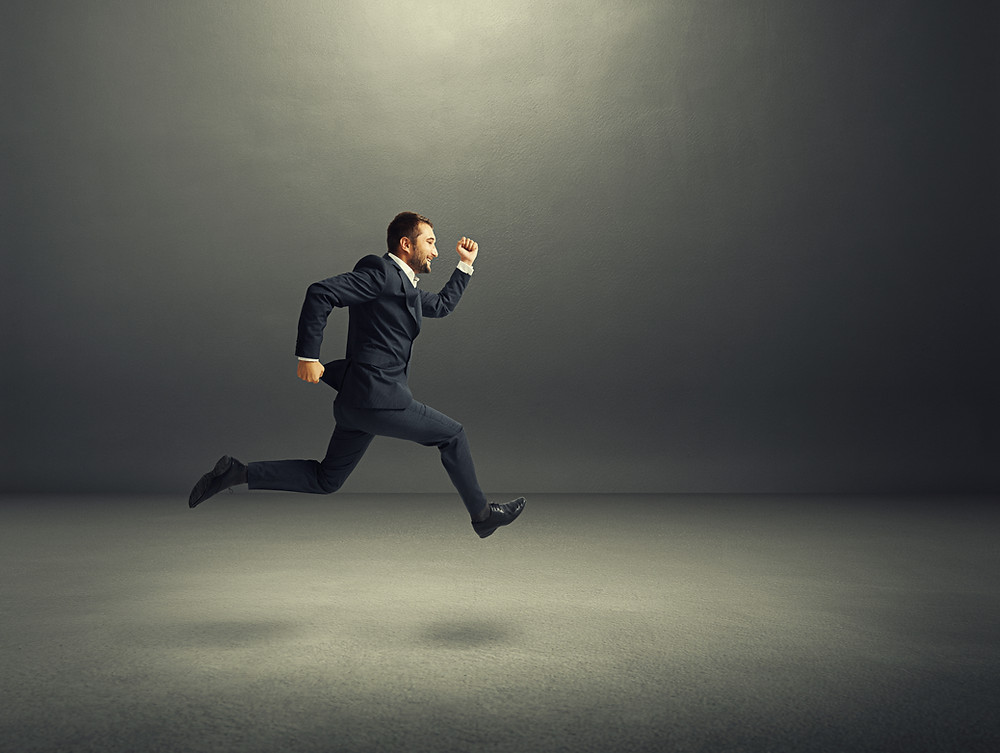 Candidate running toward Tomahawk Recruitment