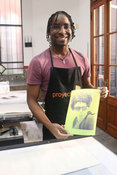 Printmaking in Buenos Aires, Argentina .