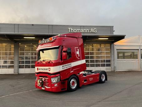Vielen Dank an die Firma Thomann AG und der Firma Betschard Transporte für den Auftrag