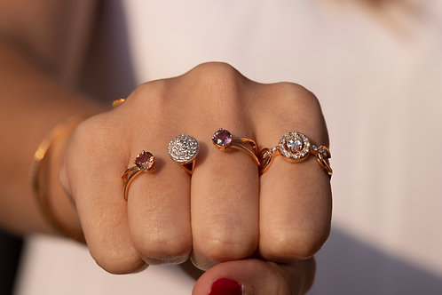Double Finger Pave Ring
