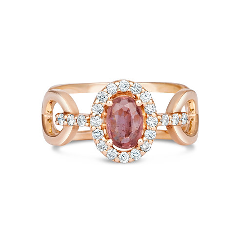 Pink Sapphire Cut Out Ring