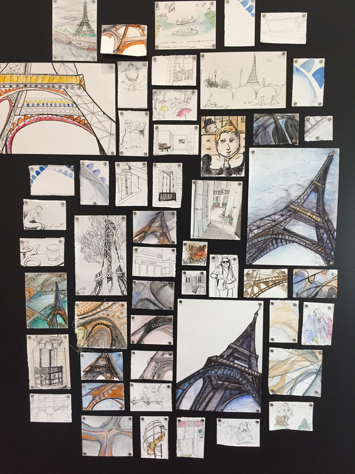 Daily Sketches: Paris 2016-2018