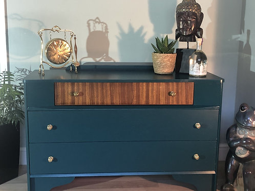 Upcycled sideboard in Siren Cornish Milk Mineral Paint