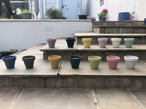 Hand Painted Pots and Saucers