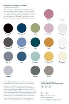 Cornish Milk Mineral Paint Colour Chart