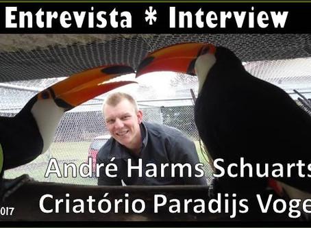 Papo de criador: André Schuarts do Paradijs Vogel