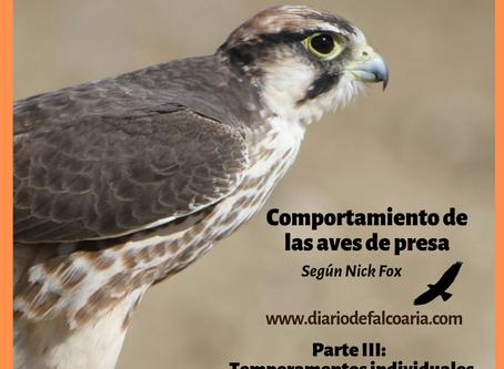 Temperamentos Individuales del ave de presa