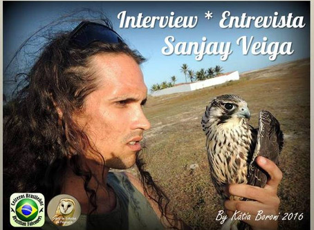 Sanjay Veiga: Falcoeiro, Fotógrafo e acadêmico.