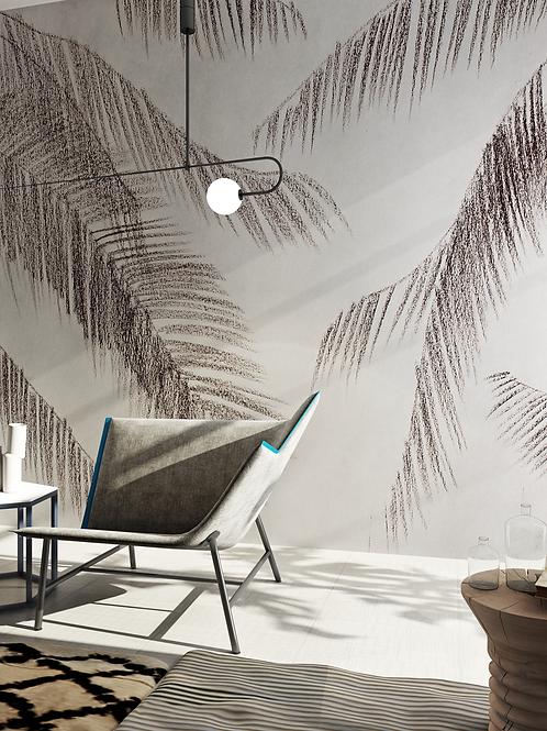 Palm trees. Pencil