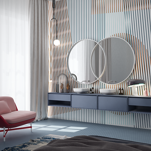 Обои Векторный орнамент 03, wallpaper bathroom The O, обои для ванной