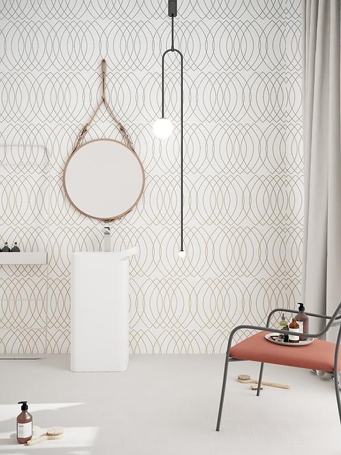 Векторные орнаменты Кольца , wallpaper bathroom The O, обои для ванной