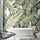 Обои Пальмовые листья белый фон, wallpaper bathroom The O, обои для ванной