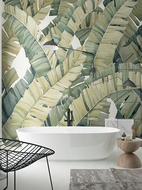 Wallpaper palm leaves, bathroom wallpaper The O, bathroom wallpaper