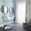 Обои масляная живопись голубые, wallpaper bathroom The O, обои для ванной