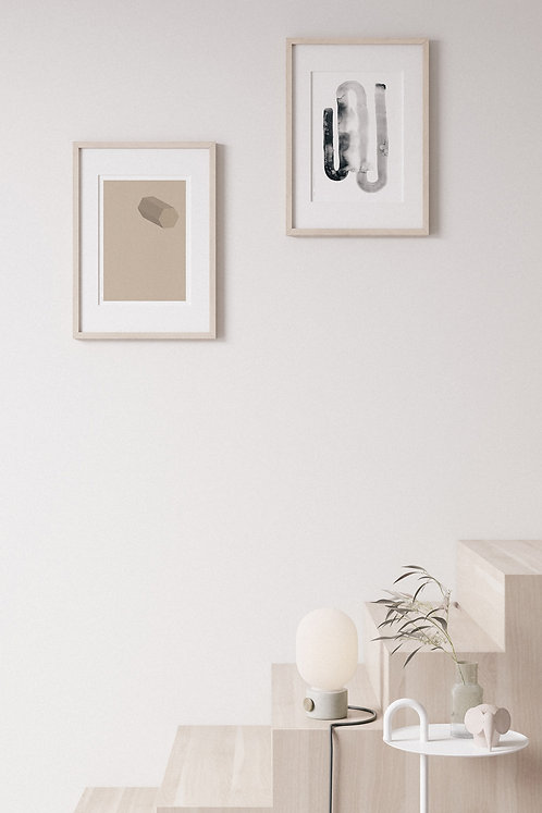 Watercolor graphic posters