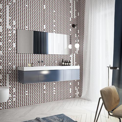 Геометрия, wallpaper bathroom The O, обои для ванной