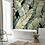 Обои Пальмовые листья черный фон, wallpaper bathroom The O, обои для ванной