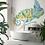 Wallpaper watercolor chameleon, bathroom wallpaper The O, wallpaper for the bathroom