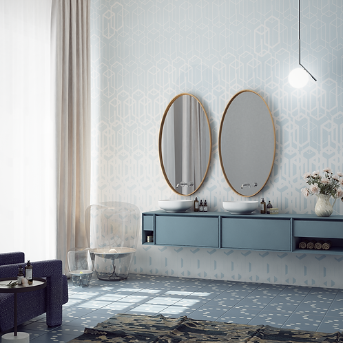 Обои Векторный орнамент 02, wallpaper bathroom The O, обои для ванной