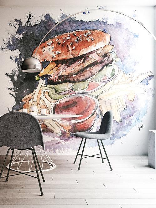 Burger designer Bogdan Shiptenko