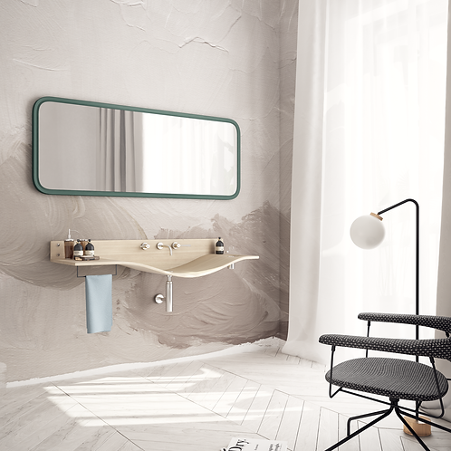 Обои в интерьере масло сепия, wallpaper bathroom The O