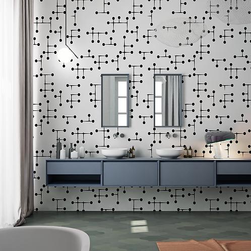 Обои Атом, wallpaper bathroom The O, обои для ванной