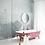 Обои для ванной масляная живопись серые, wallpaper bathroom The O